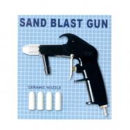 Smilšu strūklas pistole ar keram. uzgaļiem (5 mm)