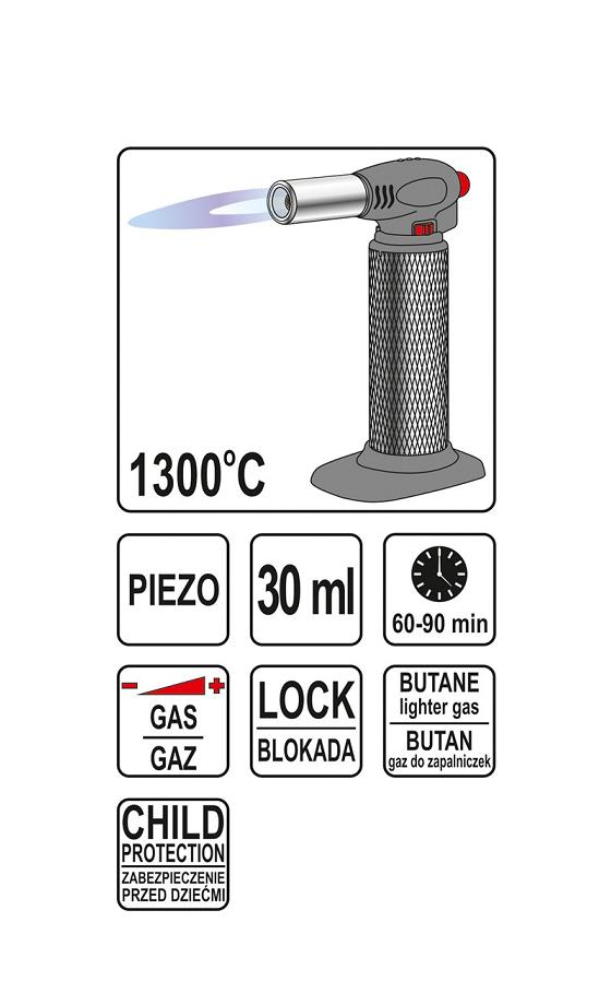 Gāzes lodāmurs, piezo 30ml (1300°C)