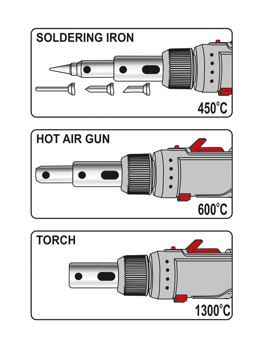 Gāzes lodāmurs 30ml, komplekts (7gab.)