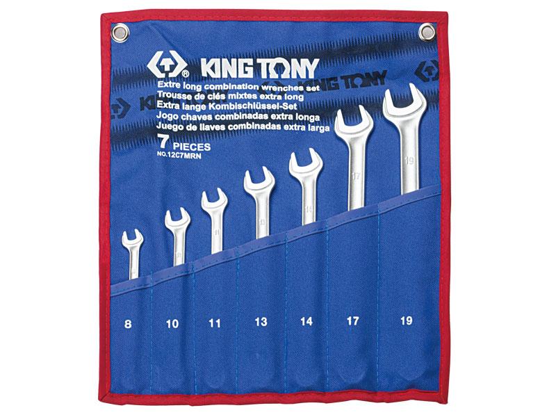 Vieglu kombinētu atslēgu komplekts KING TONY 8-19mm