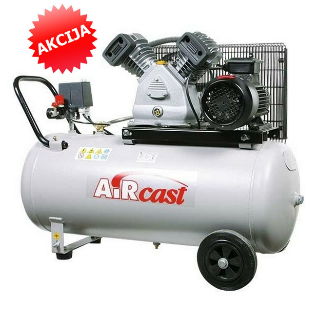 Virzuļu kompresors 10 Bar, 420L/min (2.2kW)